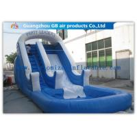 Buy cheap Amusement Park Bounce Round Water Slide Inflatable Slide With Pool product