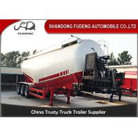 Buy cheap V / W Type 30 Ton To 80 Ton Cement Silo Trailer / 3 Axles Bulk Tank Truck  from wholesalers