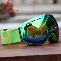 Interchangeable Colorful Ski Goggles That Fit Over Glasses  With Helmet Compatible Design