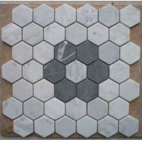 Buy cheap black and white mixed Hexagon marble mosaic tile 12''x12'' from wholesalers