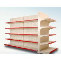 Buy cheap Customized Size Metal Supermarket Display Shelving With Advertising Board from wholesalers