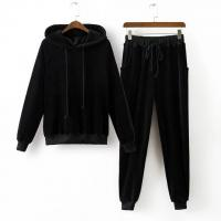 Buy cheap Custom Branded Mens Sports Tracksuits 2 Pieces Hoodies And Pants Ribbed Trims from wholesalers