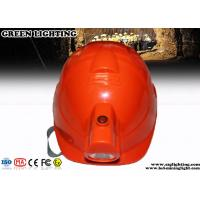 Buy cheap ABS CREE LED Lights Helmet With 4000Lux Rechargeable Headlamp from wholesalers