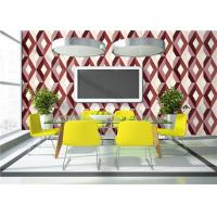 Buy cheap Geometric Print 3D PVC Wallpaper Waterproof For TV Wall Background , Eco Friendly product