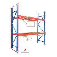 Buy cheap Powder Coated Q235 Steel Warehouse Storage Shelving Systems Metal Pallet Racks from wholesalers