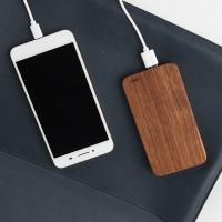 Buy cheap Bamboo Design Wooden Phone Charger 6000mAh Capacity OEM / ODM Supported from wholesalers