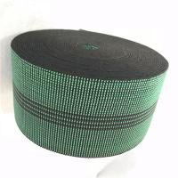 Buy cheap 3 Inch Covered Threads Elastic Rubber Upholstery Webbing For Function Sofa In Green Color 460B# from wholesalers
