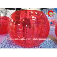Buy cheap Human Inflatable Bumper Bubble Ball / Kids And Adults Bubble Suit Red from wholesalers