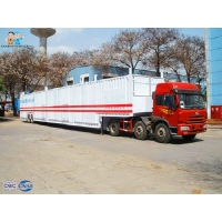 Buy cheap Safe Vehicle Transport Skeleton Q345 Enclosed Semi Car Hauler from wholesalers