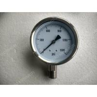 Buy cheap 4 All Stainless Steel Pressure Gauge with Explosion proof Hole , 0 - 1500 psi Pressure Gauge from wholesalers