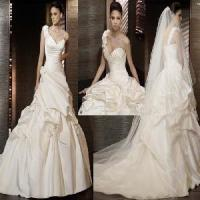 Buy cheap One Shoulder A-Line Satin Bridal Wedding Dress (YL10018) from wholesalers