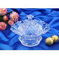 Buy cheap Wedding Gift Glass Candy Bowl With Lid / Glass Storage Jar For Nut from wholesalers