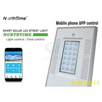 Buy cheap 4 Rainy Days discharge time Smart Phone App Control 18W Solar Street Light 30W Panel from wholesalers