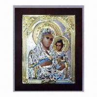 Buy cheap Metal/Aluminum Orthodox Icon with Supportive Back Leg to Stand, Measures 13 x 11cm from wholesalers