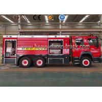 Buy cheap Euro3 Diesel LHD 6 Wheel Fire Brigade Truck , Fire Engine Truck 8 Ton To 10 Ton from wholesalers