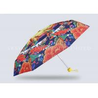 Buy cheap Adult Nano Leak Proof 5 Fold Umbrella Exquisite Printing Pongee Fabric Cloth Material from wholesalers