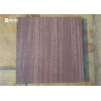 Buy cheap Flamed Purple Sandstone Cladding Tiles For Exterior Walls In Golf Course / Luxury Villas from wholesalers
