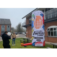 Buy cheap 0.4mm PVC Tarpaulin Sewing Version Advertising Inflatable Can Model Drink Replica from wholesalers