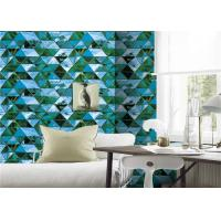 Buy cheap Korea Style Blue 3D PVC Wallpaper Non - Pasted For Hotel Background , 0.53*10m Size from wholesalers