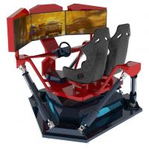 China 3 / 4 / 6 Dof Virtual Reality Car Racing Simulator 40 Inch Hd Monitor Screen on sale