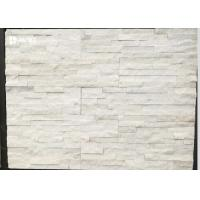 Snow White Natural Marble Cultured Stone Siding For Houses Building Materials