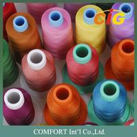 Buy cheap Customized Color Sewing Machine Threads 100% Spun Polyester For Garment product