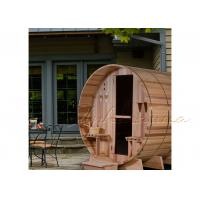 Buy cheap True Bent Stave outdoor Sauna Barrel with Electric heater / burning stove from wholesalers