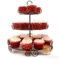 Buy cheap 3 Tiers Metal Rack for Cupcakes Dessert for Christmas Day ,Valentine's Day..... from wholesalers