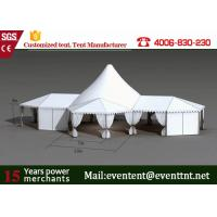 Buy cheap Folding Shade Canopy PVC Fabric , High Peak Frame Tents With Restaurant Seat Cushion from wholesalers