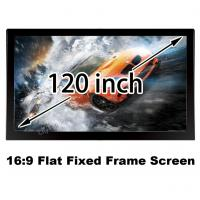 Buy cheap Good Price HD Projection Screen 120 Inch Diagonal Fixed Frame Projector Screen 16:9 Cinema from wholesalers