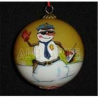 Buy cheap Custom inner hand painted christmas ball,custom inner hand painted glass ball from wholesalers