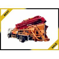 Buy cheap Hydraulic 120kw Generator Cement Pump Truck , Concrete Crane Truck With 30kw Pumping Motor from wholesalers