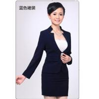 China Corporate Uniforms Red / Blue Hotel Hostess Uniform Spandex 6.8% for women on sale