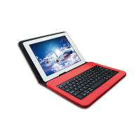 Buy cheap Customized Red IPad Keyboard With PU Cover Case MFI Certificated product
