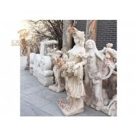 Buy cheap Life Size Hand Carved Marble Lady Statue from wholesalers