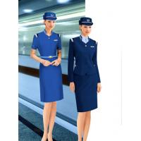 China flight attendant apparel costume airline stewardess uniform dress for Women on sale
