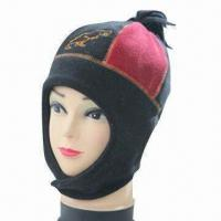 Buy cheap Polyester/Polar Fleece Hat/Earflap and Beanie for Kids, with Tassel from wholesalers