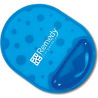 Buy cheap Waterproof Wear-resisting crystal blue silicone gel + PU + PVC mouse pads with photo frame from wholesalers