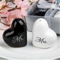 Buy cheap Mr & Mrs Heart Shaped Salt & Pepper Shaker Favors wedding favor product