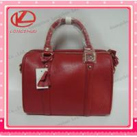 Buy cheap classic design red cow leather lady shoulder handbag from wholesalers
