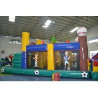 Buy cheap Amusement Land Park Inflatable Assault Course Anti - UV / Anti - Ruptured from wholesalers