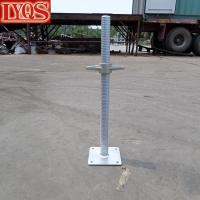 Buy cheap Frame Scaffold Leveling Jack with Welded Base Plate Galvanized Hollow Type from wholesalers