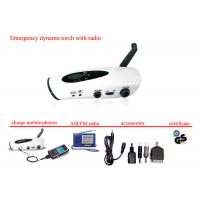 Buy cheap hand crank dynamo flashlight mobile charger & led torch light with FM radio from wholesalers