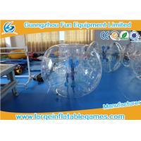 Buy cheap Inflatable Transparent Human Knocker Soccer Body Bumper 1.2m / 1.5m / 1.8m product