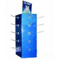 Buy cheap 350gsm + B Flute Corrugated Cardboard Candy Display Stands With 20 Hooks from wholesalers