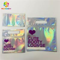 Buy cheap Zipper Plastic Mylar Foil Cosmetic Packaging Bag Hologram Laser Holographic Stand Up Type from wholesalers