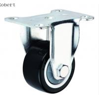 Buy cheap Durable Trolley Polyurethane Roller Wheels , Spring Loaded Casters For Machines from wholesalers