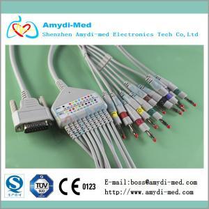Buy cheap Nihon Kohden ekg cable with din3.0, 10/12 lead ekg cable, medical ecg ekg cable product