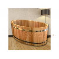 Buy cheap ISO Approved Inspiration Wood Bathtub With Years Red Cedar for Home Shower Bath from wholesalers