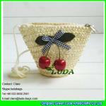 Buy cheap LDMC-017 strawberry clutch bag,natural wheat straw handbag, zipper beach bag from wholesalers
